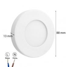 Светильник LEDOEM SF-R3 W 3Вт 5000K накладной